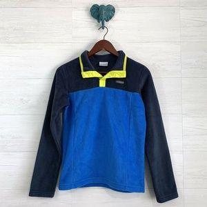 Columbia Boys Large 14-16 Blue Fleece Sweater